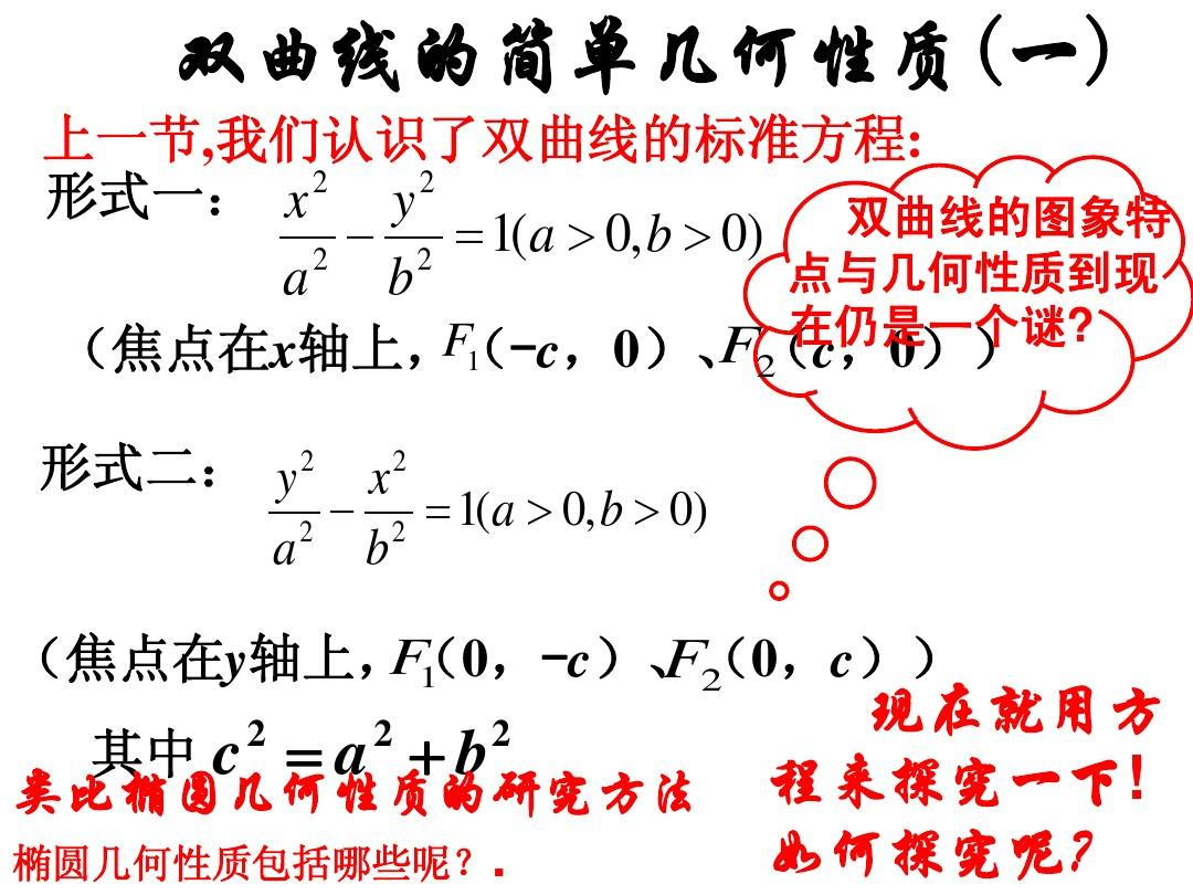 高二数学选修1-1 双曲线的简单几何性质11 ppt