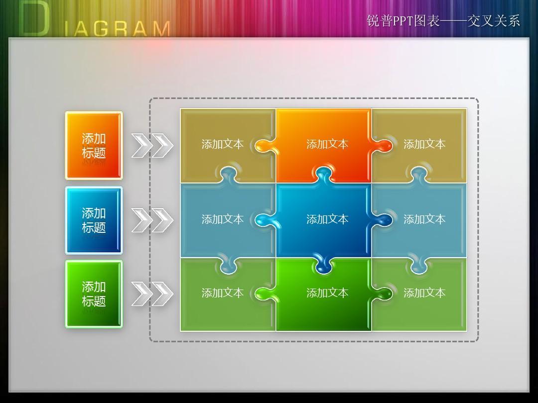 锐普3D水晶图表可修改版_分享ppt模板