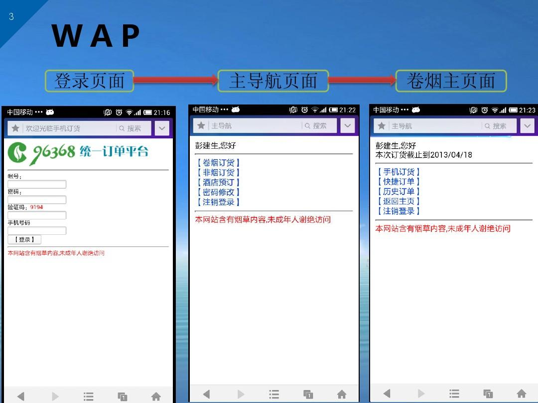 湖南省烟草商业96368统一订单平台项目手机订货汇报ppt  第3页 (共12