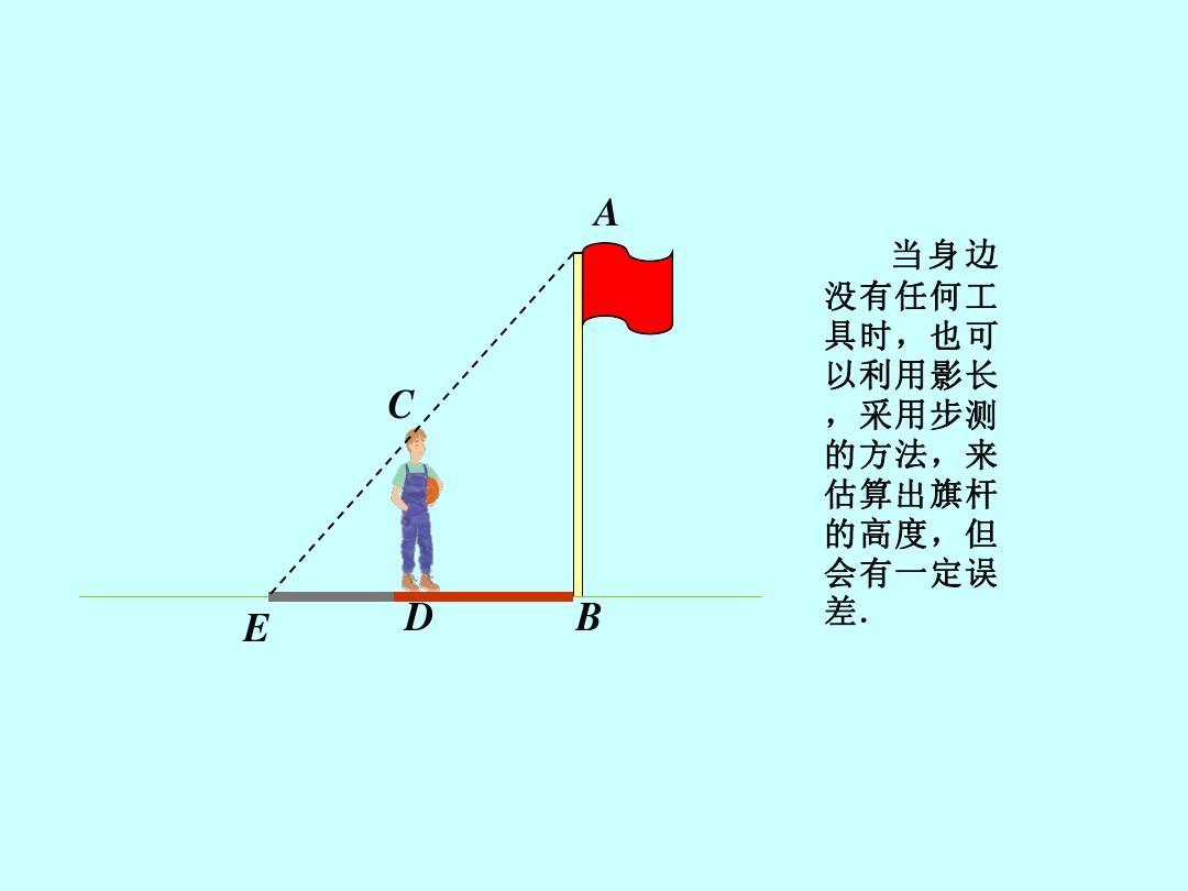 8相似三角形的應用課件(冀教版九年級上)2ppt圖片