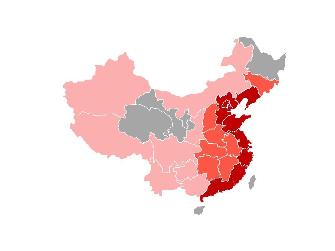 ppt分省份可编辑中国地图