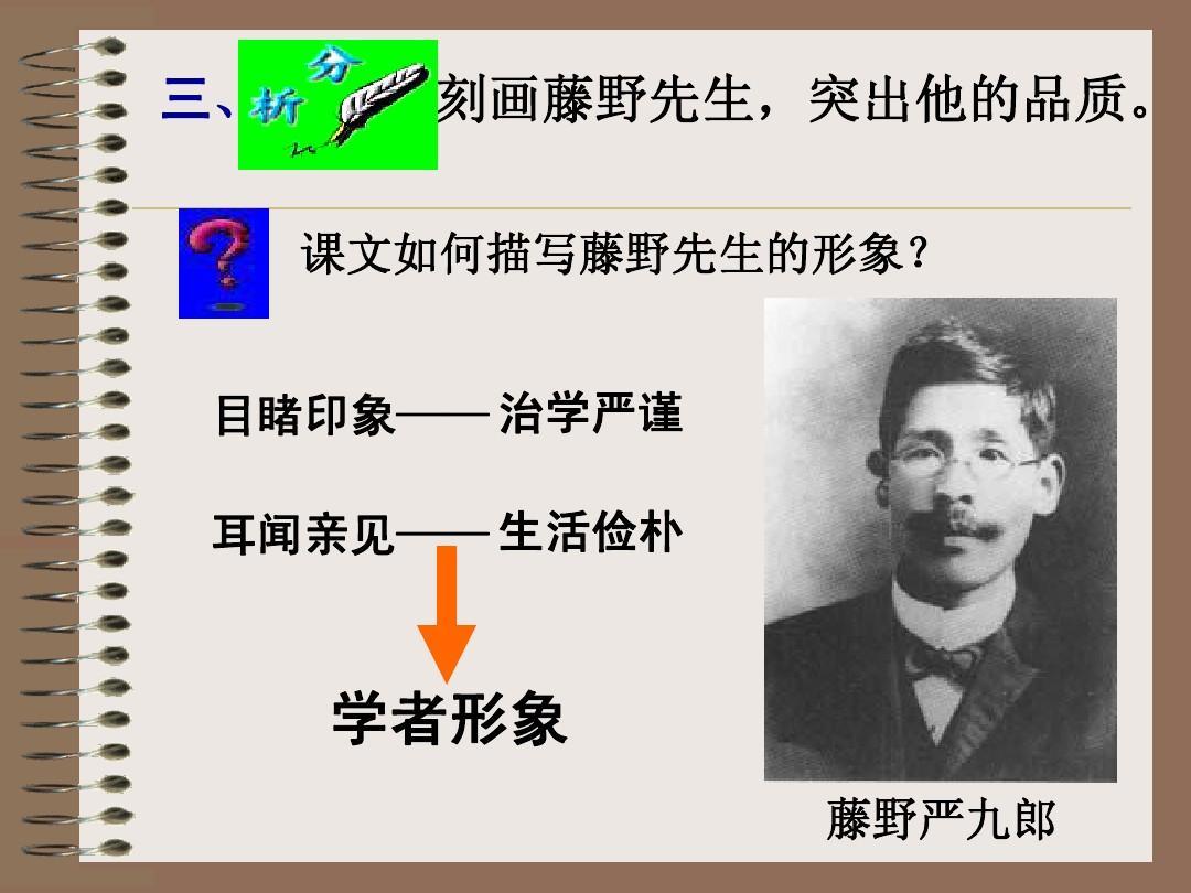 《藤野先生》ppt教学(精品推荐)v教学心里话课件反思图片