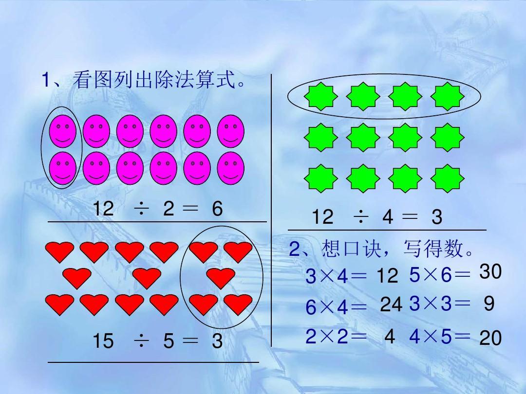 怎样 列除法算式_图文 怎样 列除法算式_二年级数学_数学_小学教育图片