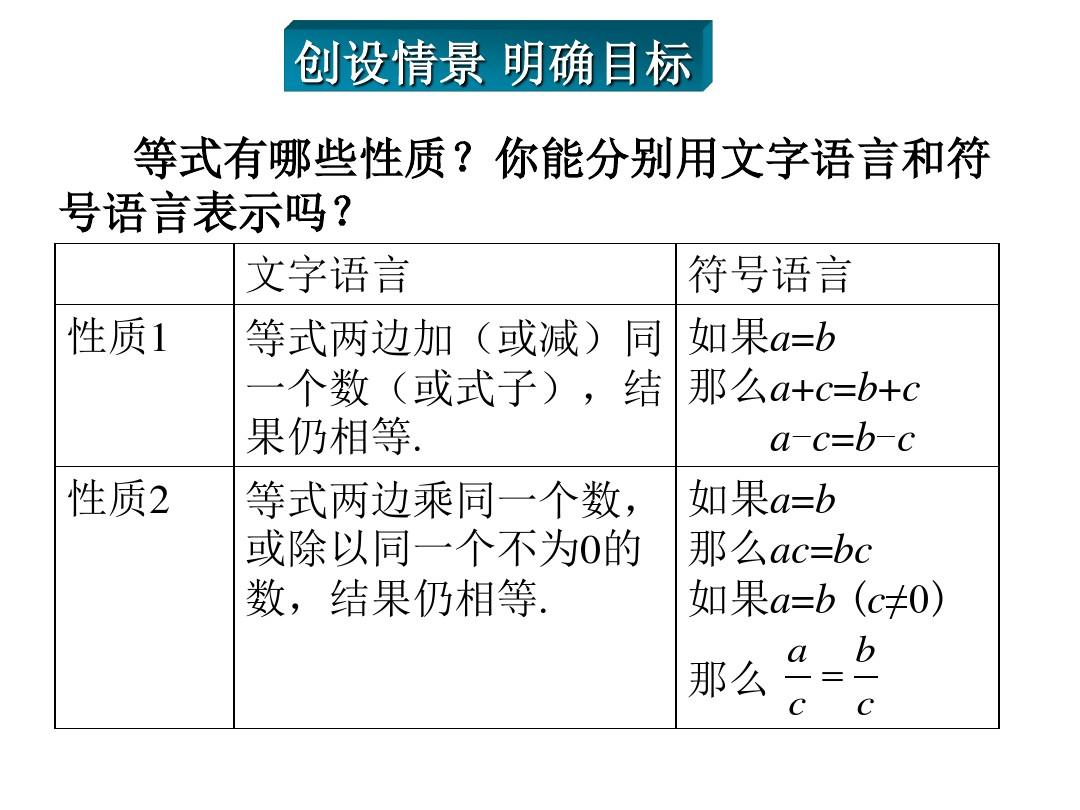 华师大版上册七单元课件年级8.2.2不等式的简单记录语文版六人教年级数学第二下册集体变形备课图片