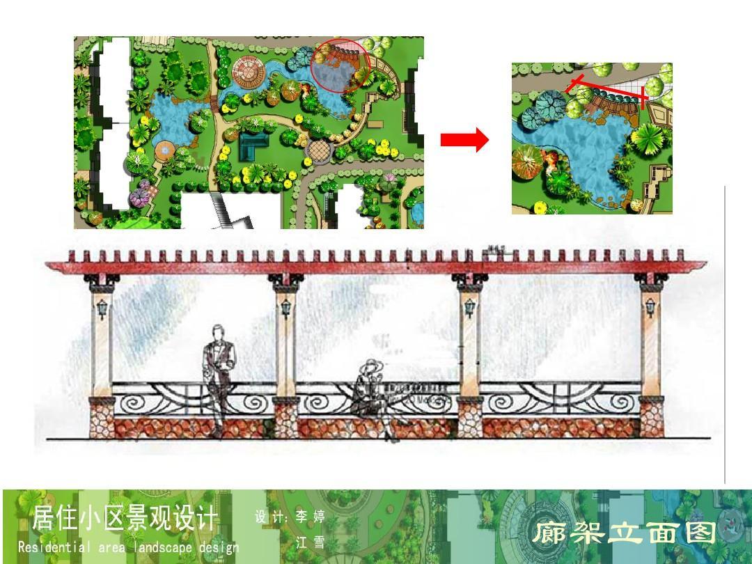 嘉瑞花苑小区景观设计ppt图片
