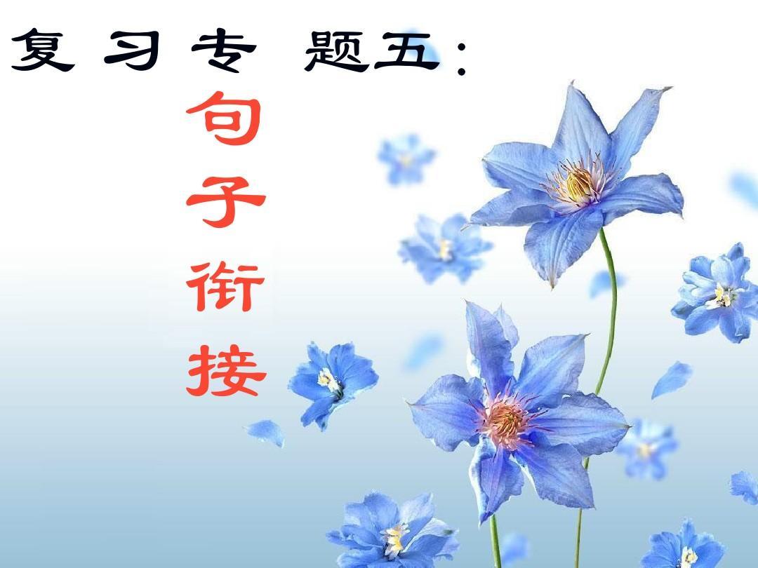 [名校联盟]广西柳州市第十四中学中考语文专题复习五《句子衔接》课件