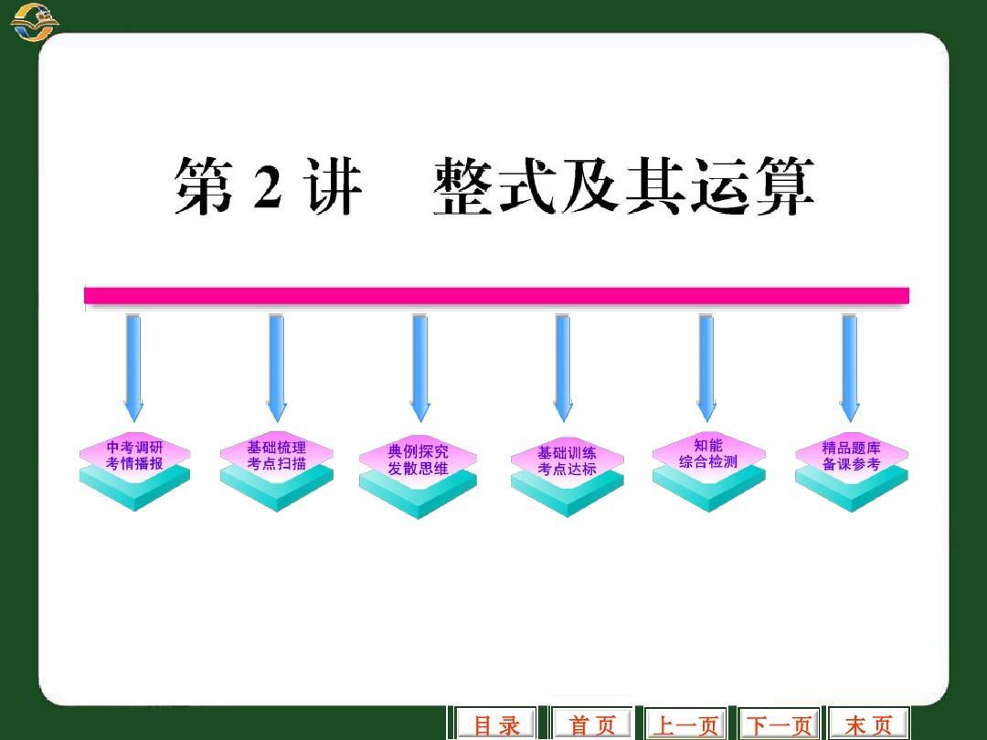 2-2012数学中考复习课件整式及其运算