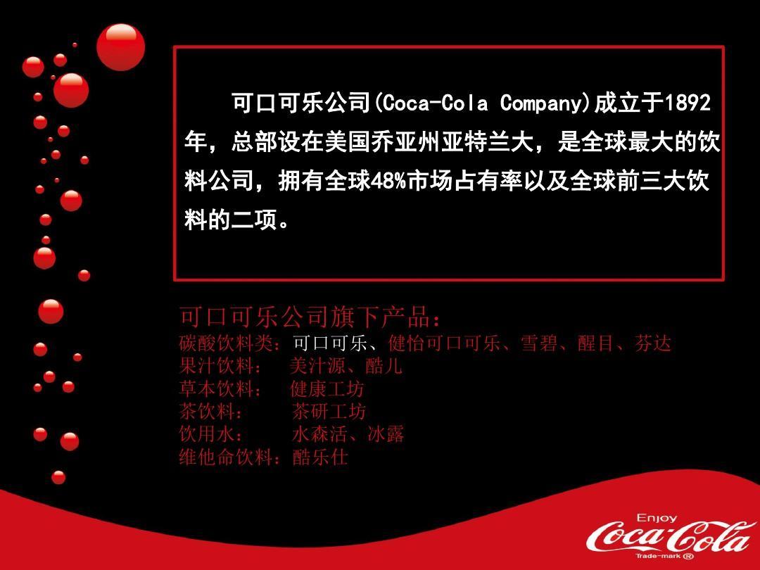 可口可乐广告案例分析ppt图片