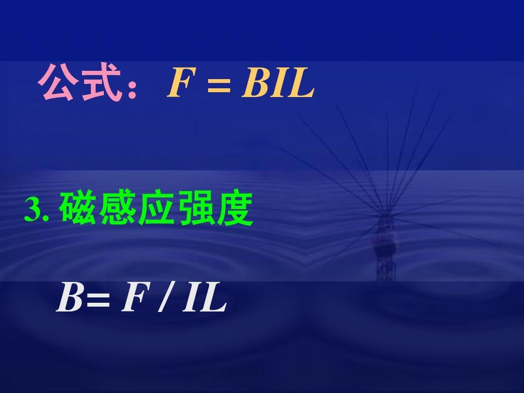 高中】物理课件选修3精美可编辑学校:32磁感应强度(ppt高中)资料:f课件公式表演系图片