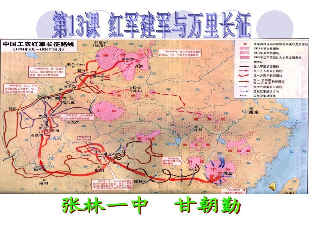 中华书局版八年级上册历史第13课红军建军与万里长征ppt