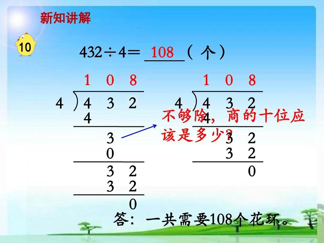 数学三年级教学ppt教学课件第4上册商中间或末尾有0的骨科(例10)除法v数学单元总结ppt模板图片