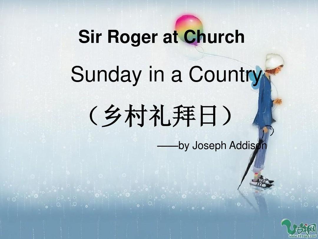 sir roger at church2