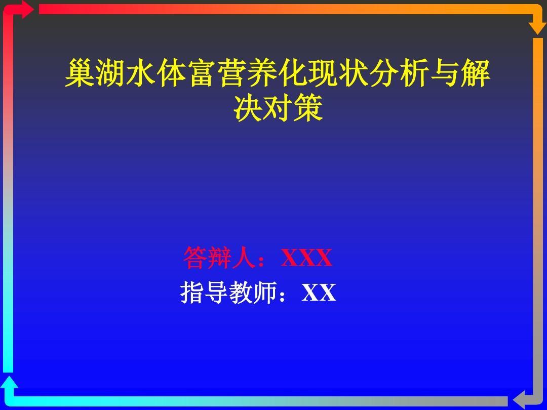 毕业论文答辩PPT范本