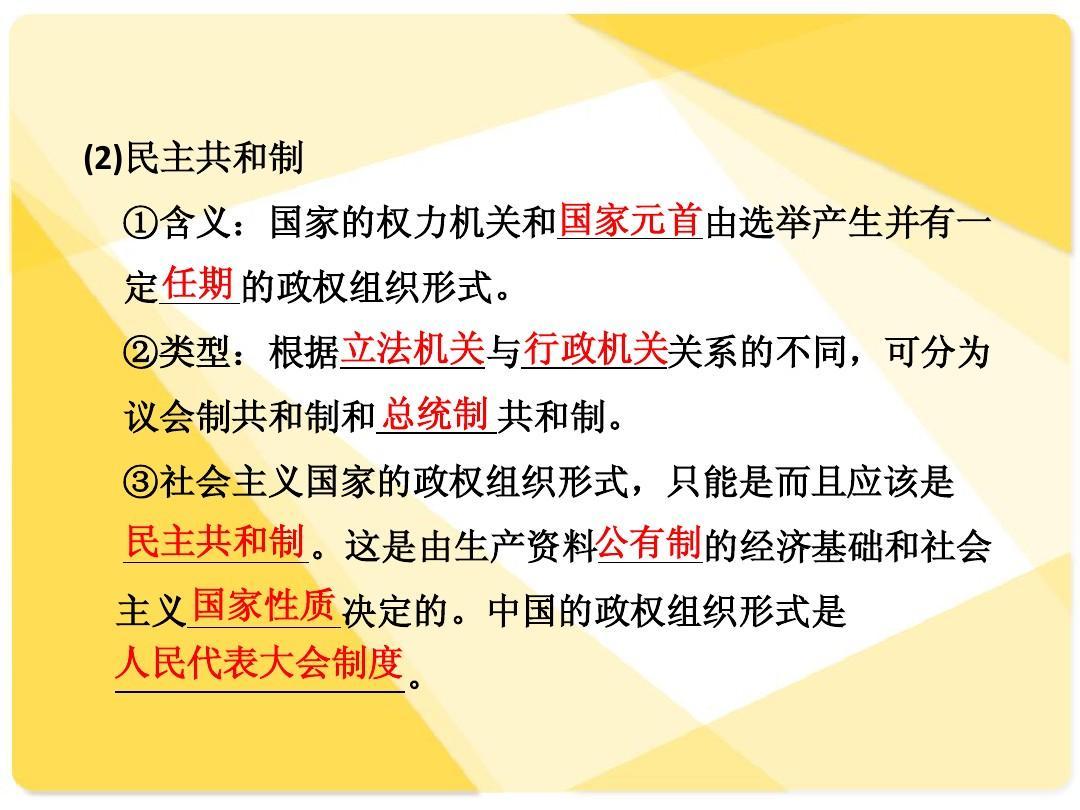 语文课件总v语文制度:专题7:人民代表大政治是高三的七上单元第五我国备课图片