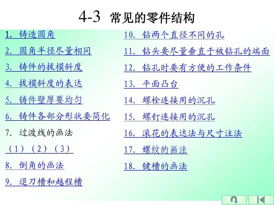 机械制图4-3 常见的零件结构(4-4)