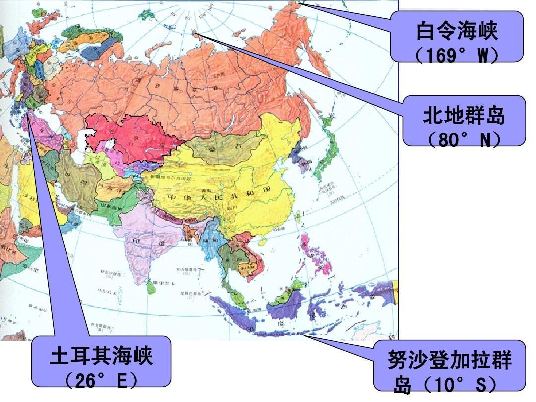 亚洲地理分区(东亚,南亚,西亚,北亚,东南亚,中亚)的主要国家图片