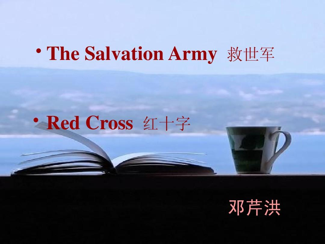 Unit1 The Salvation Army & Red Cross