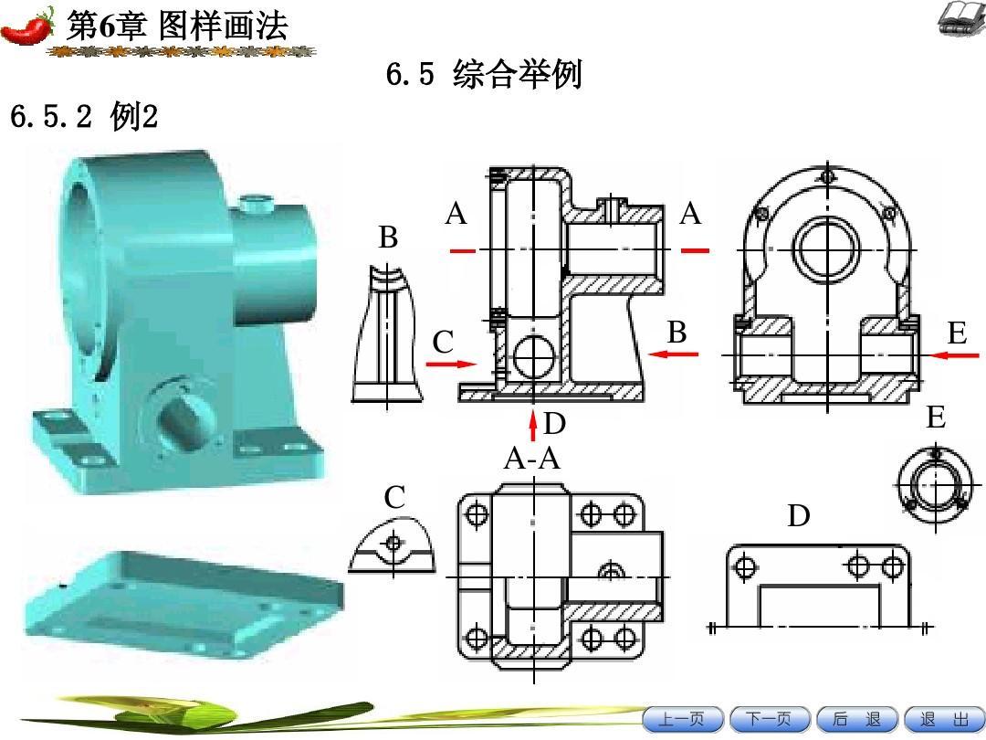高等教育 工学 7机械制图课件三视图,剖面图ppt  第6章 图样画法 6.图片