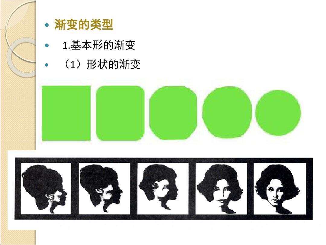 基本形的渐变 (1)形状的渐变图片