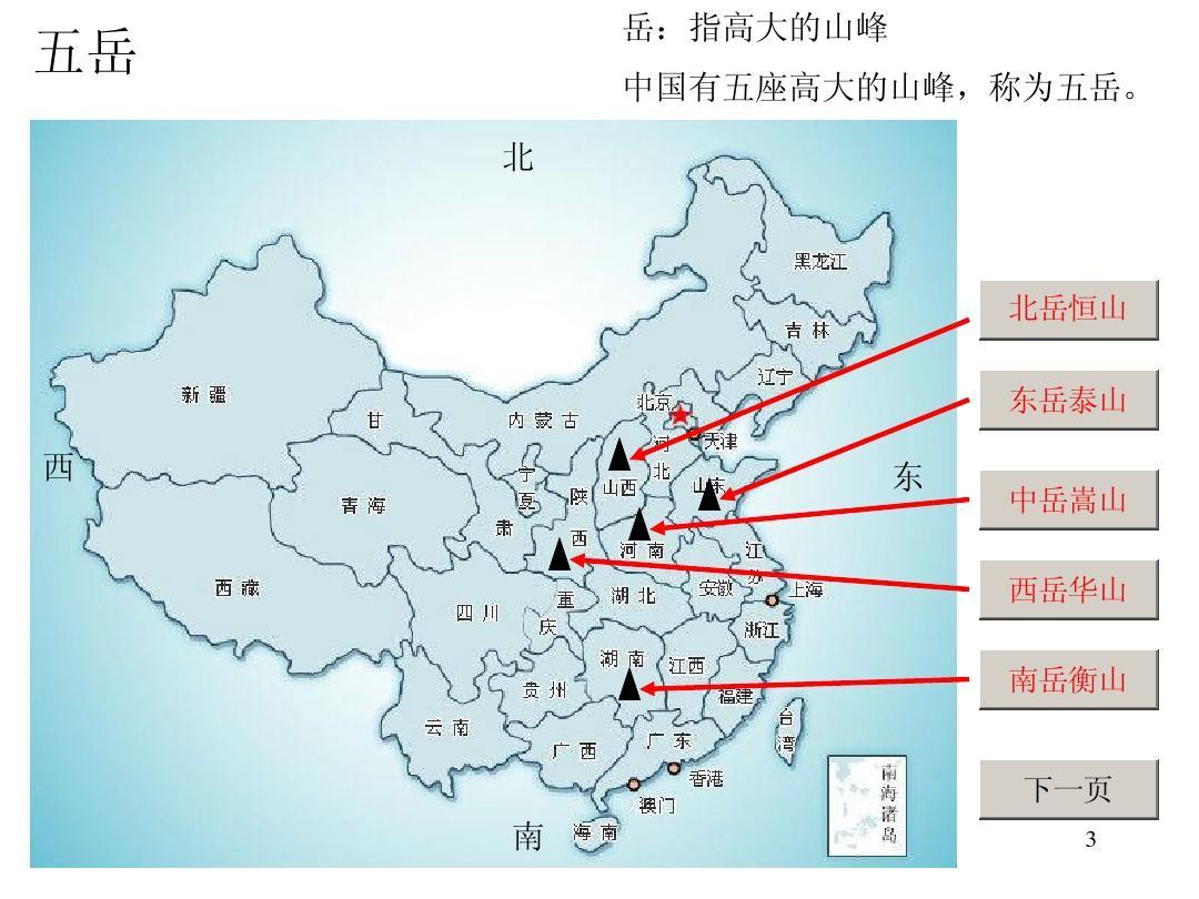 中国名山大川介绍(1)ppt图片