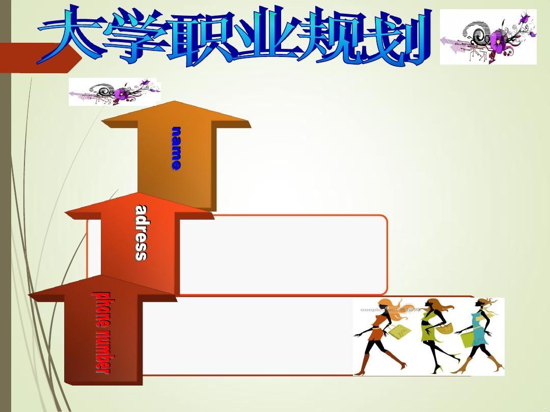 大学生职业规划ppt模板素材图片
