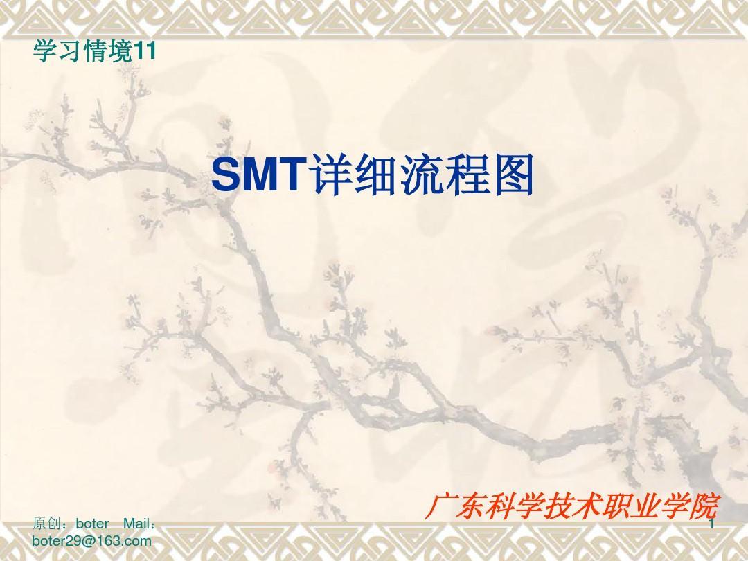 SMT生产流程PPT
