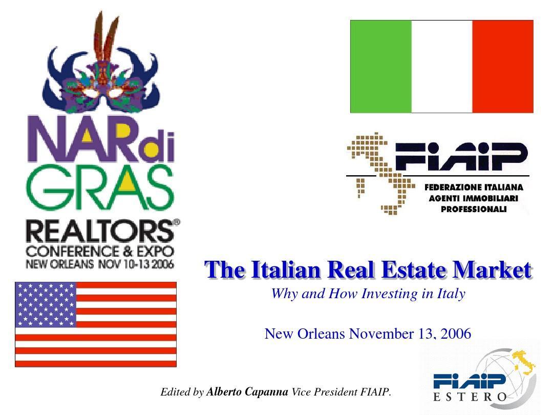 意大利房地产市场 Italian Real Estate Market