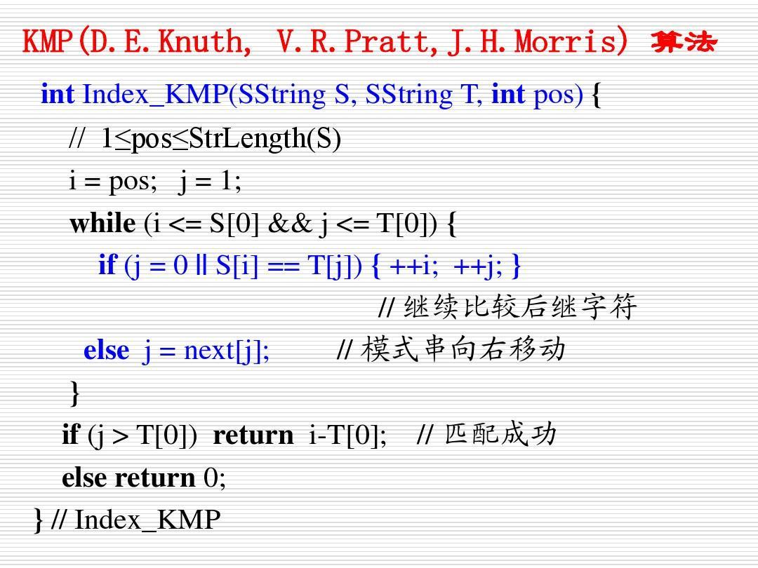 KMP算法中next算法执行过程