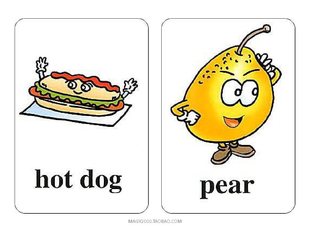 新版小学英语三年级上册英语有声单词卡片ppt图片