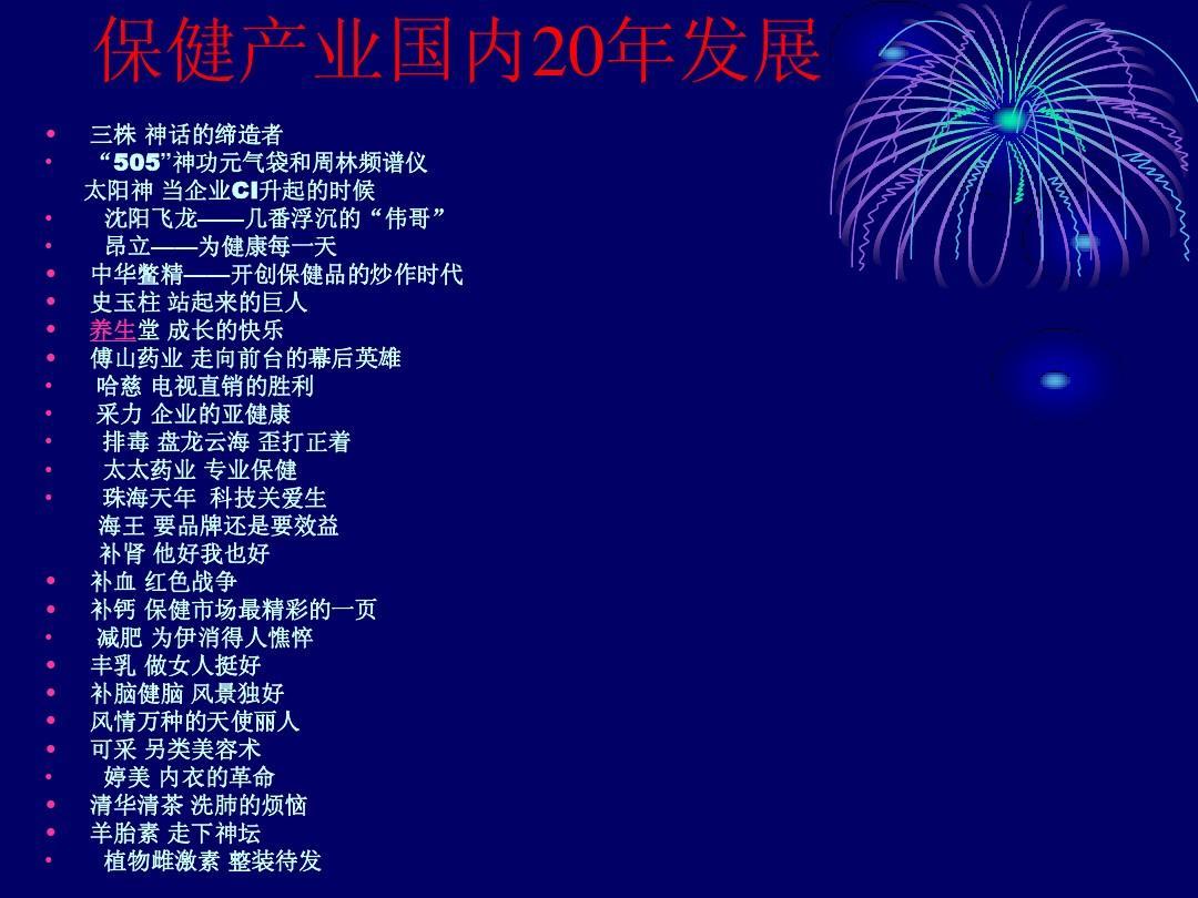 中国保健品20年发展见证幻灯