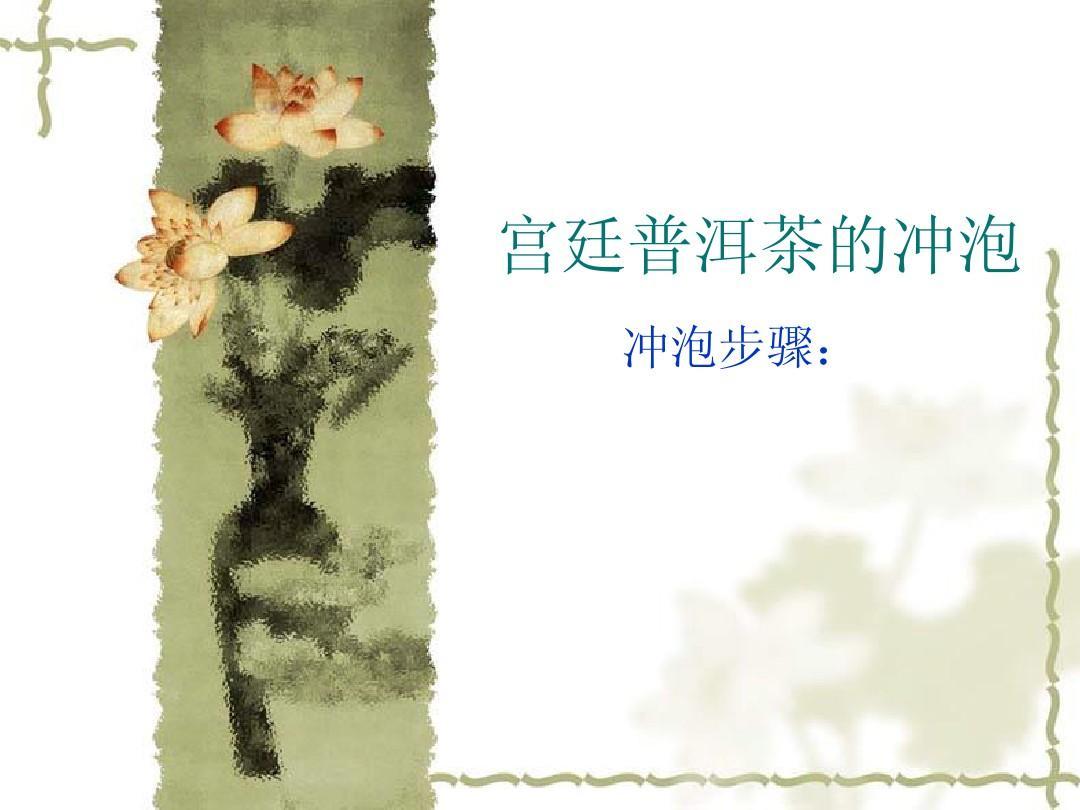 宫廷普洱茶的冲泡ppt图片