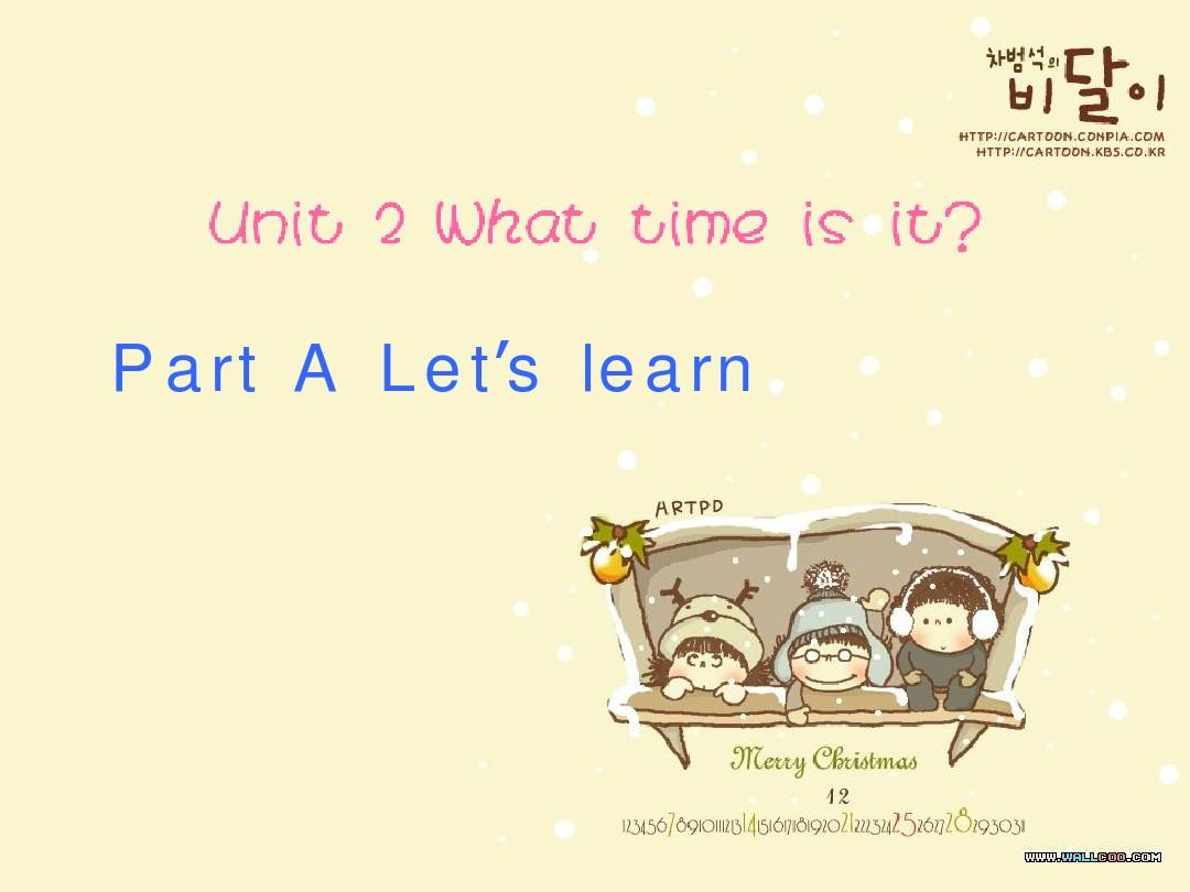 WHAT TIME IS IT A LET'S LEARN
