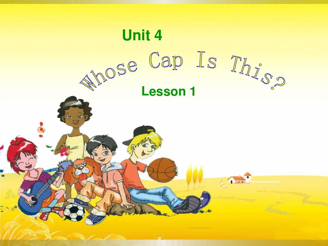 Unit 4 Whose Cap Is This Lesson 1 课件1-优质公开课-重大三起4下精品