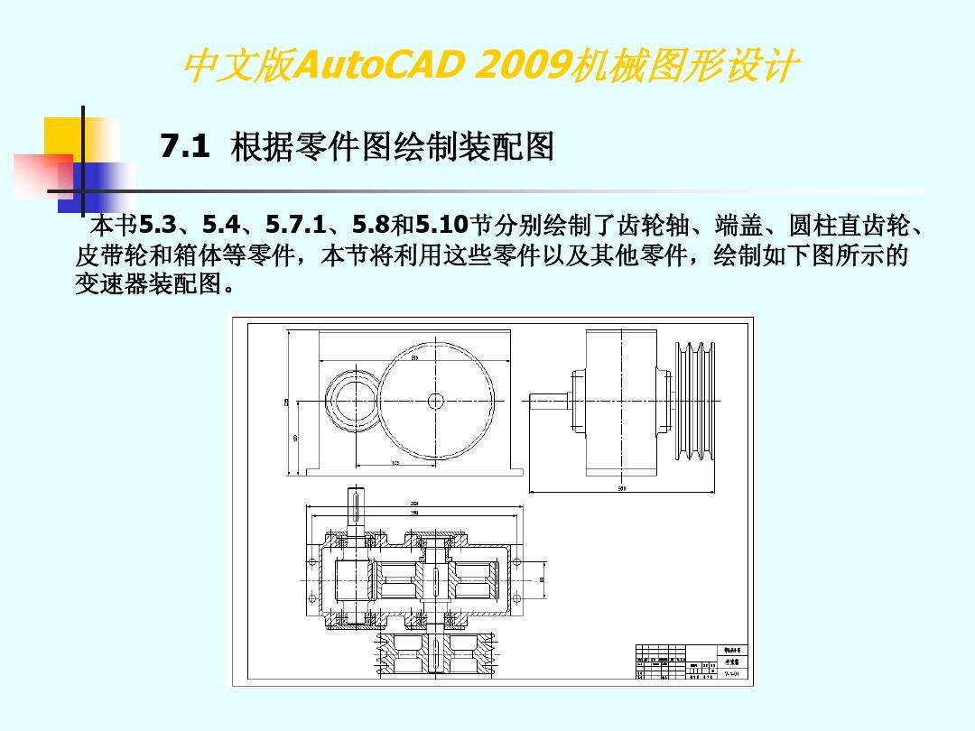 cad2009案例图形设计【第7章】PPT_word文卡通包装设计机械图片