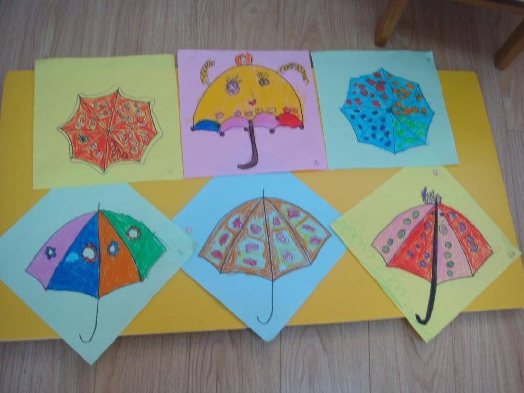 小班美术《小花伞》ppt图片