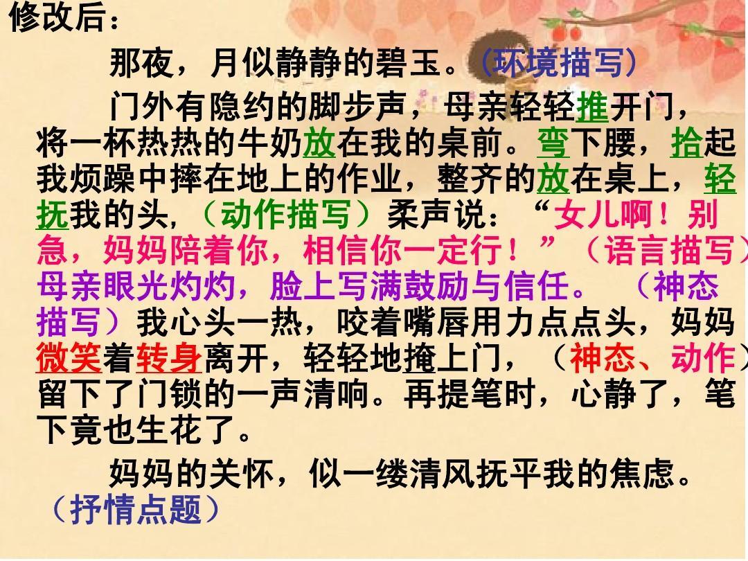 高中教育作文作文教学描写人物1(1)ppt很实用的作文指导修改后措施改进高中ppt图片