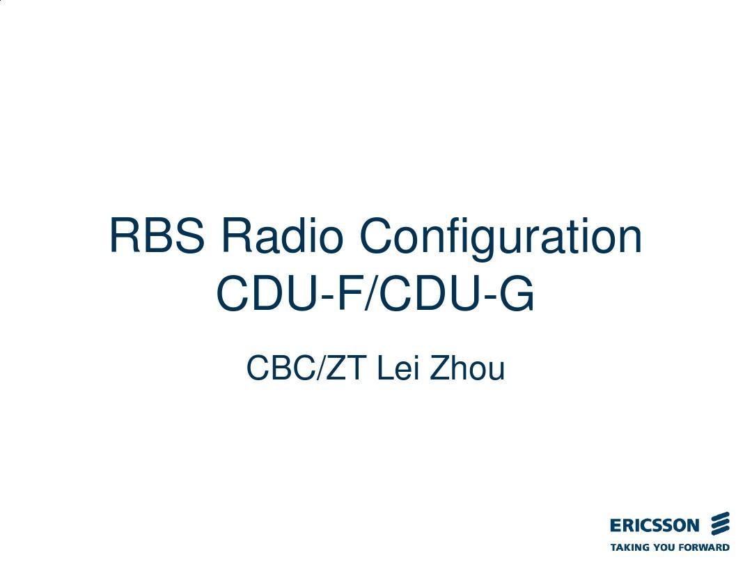 RBS Radio Configuration(CDU-G_CDU-F)