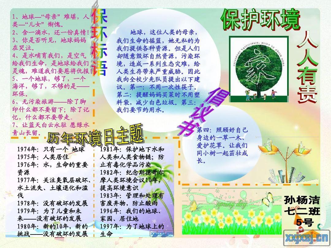 保護環境小報PPT