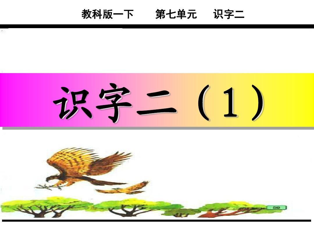 2017年新语文年级版一下册教材教科识字二(1郭琦_黄欢研究生有效教学案例分析研究图片