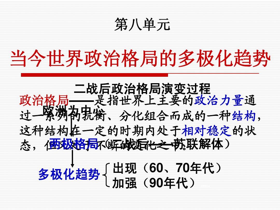 海南省海口市第十四中学高中历史人教版必修一课件:第25课 两极世界的形成