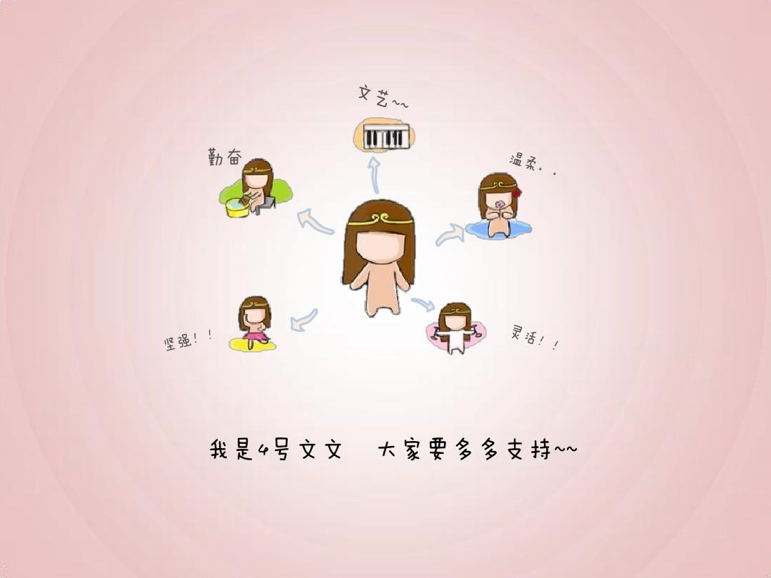 超可爱卡通自我介绍模板ppt图片