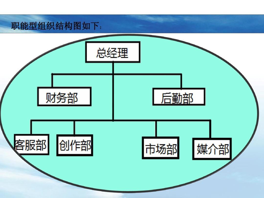 职能型组织结构图如下图片