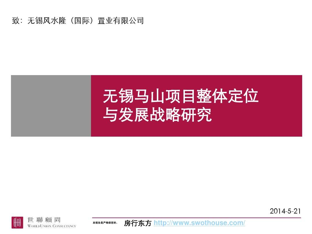 世联项目整体定位与发展战略研究PPT