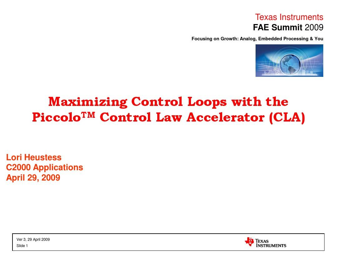 Control Law Accelerator Overview and How to Use