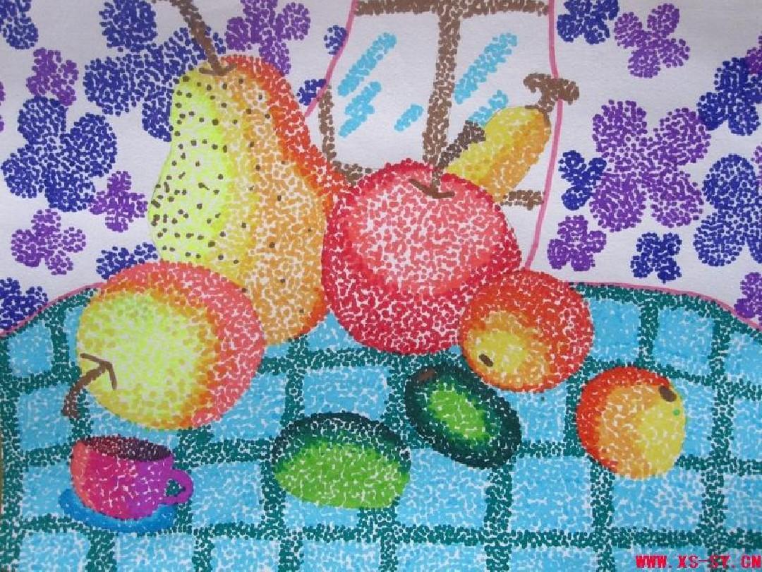 小学二年级美术《彩点点》ppt图片