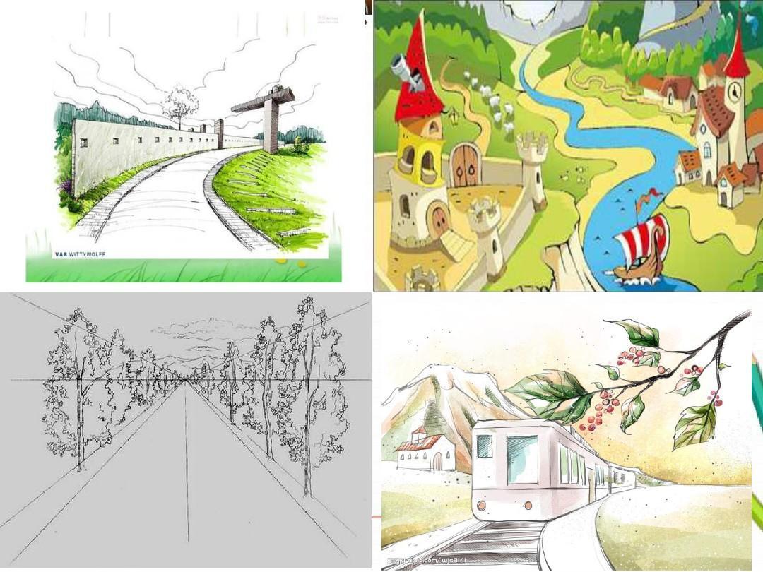 人教版六年级美术上册第三课远去的路ppt图片