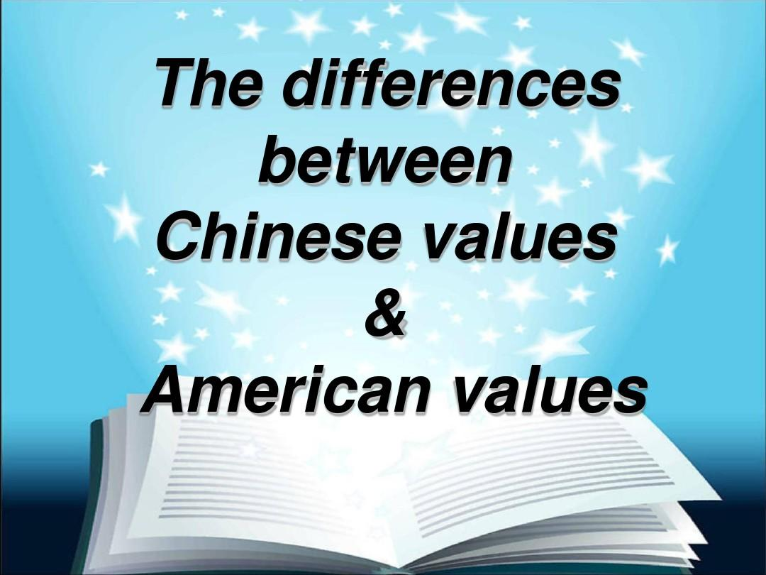 the differences between chinese and american Jude discusses some basic differences on american and chinese cultures that  foreign teachers may consider before teaching and living in.