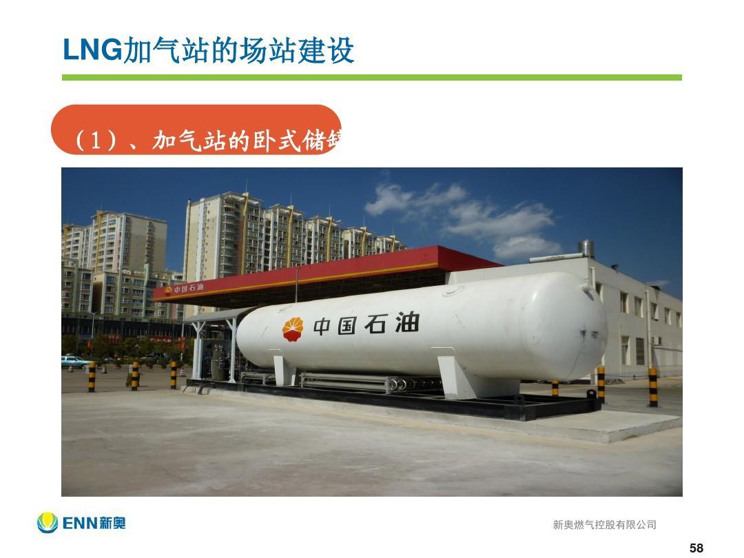 lng加气站的场站建设 (1),加气站的卧式储罐图片