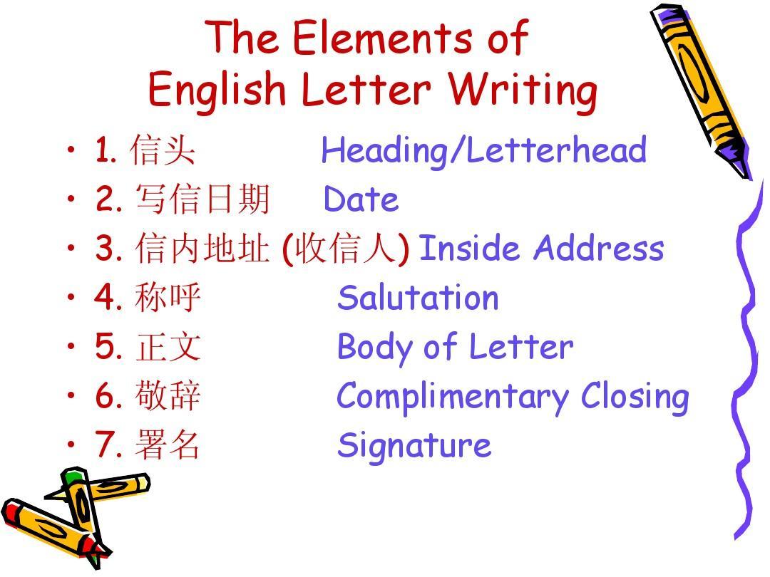 英文书信及信封格式ppt图片