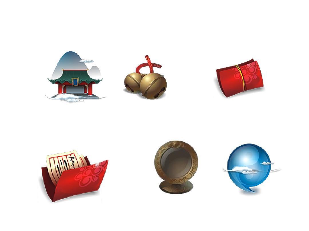 64种古典小图标,ppt素材,中国风图片